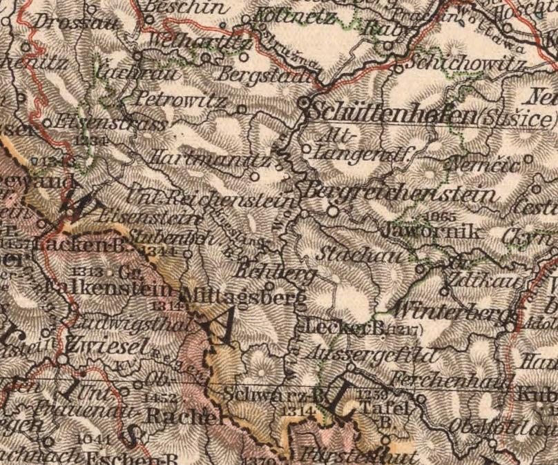 Bildergebnis für Schüttenhofen karte